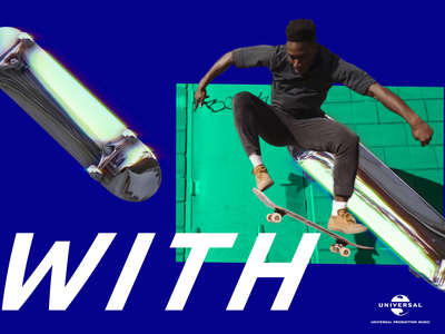 Universal Production Music skate scene 🌎🛹 branding type c4d 3d 2d typography motion design motion design animation