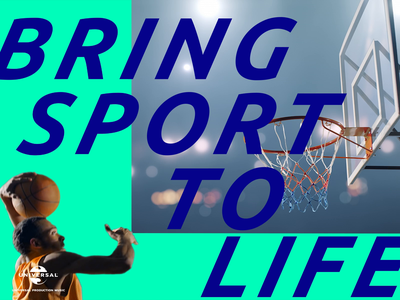 Universal Production Music basketball scene 🌎🏀💥 branding scene universal sport boom rotoscope sports basketball c4d 3d 2d typography design motion design motion animation