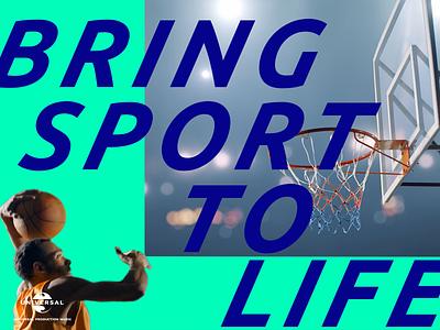 Universal Production Music basketball scene 🌎🏀💥 branding scene universal sport boom rotoscope sports basketball c4d 3d 2d typography design motion design motion animation