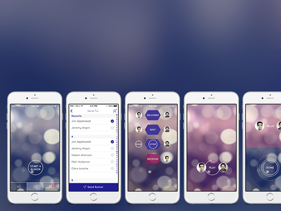 Rumor rumor telephone ios bokeh mobile apps app android ui ux flat