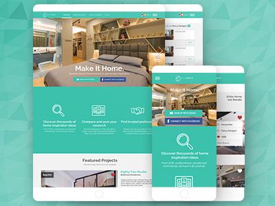 Qanvast Web App responsive mobile design webapp