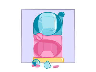 36 Days of Type: G illustration pastel gachapon g 36 days of type