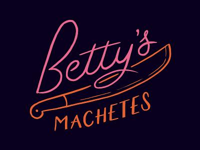 Betty's Machetes retro machete bobs burgers logo hand lettering lettering