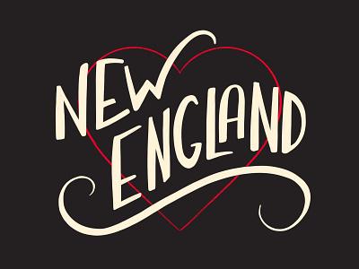 New England home hand lettering love lettering boston massachusetts new england