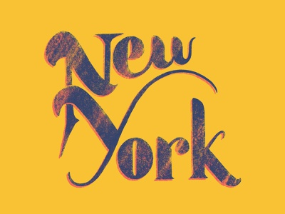 New York typography hand lettering lettering nyc new york hangtime dribbble