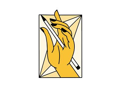 Tortured Artist patreon pencil artist hand sticker illustration