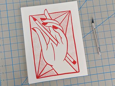 Tortured Artist Risograph Print print risograph riso halftone illustration