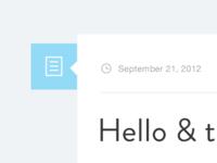 modern minimal blog