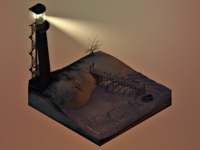 3D Lighthouse terrain block