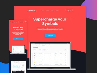 Fintech - Free Figma Template free template design templatedesign templates figma design resources landing page freebies