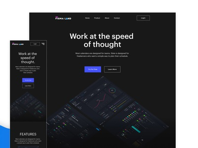 Figma Startup Product Template figma design resources landing page freebies