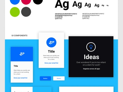 Landing page starter kit #1 freebies typography figma design system ui kit design resources landing page color palette