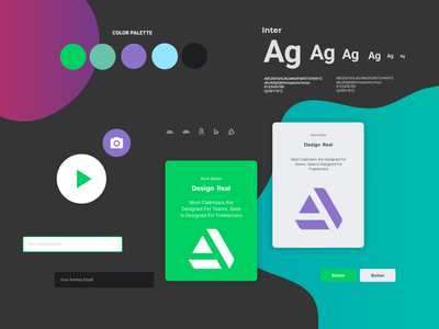 Figma Landing page design kit #6 freebies ui components typography figmadesign design system ui kit design resources landing page color palette