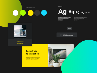 Landing page design kit #7 freebies ui components typography figma design system ui kit design resources landing page color palette
