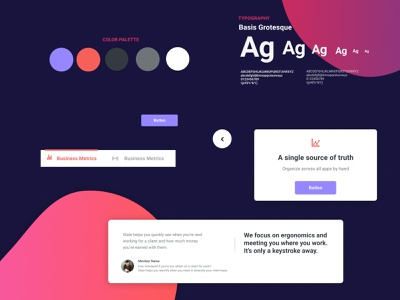 Figma landing page design kit #10 freebies ui components typography figma design system ui kit design resources landing page color palette
