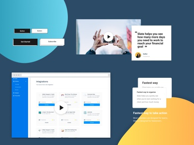 Figma landing page Design Kit #11 freebies ui components typography figma design system ui kit design resources landing page color palette