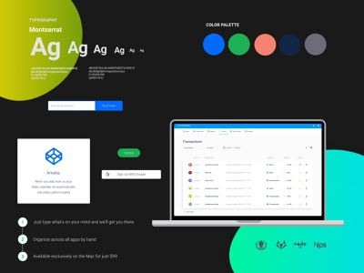 Figma landing page design kit #12 freebies ui components typography figma design system design resources landing page color palette