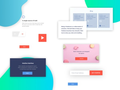 figma landing page dsign kit #13 freebies ui components typography design system ui kit design resources landing page color palette