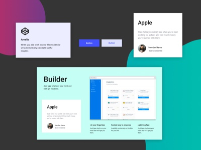 FIGMA landing page design kit #14 freebies ui components typography figma design system ui kit design resources landing page color palette