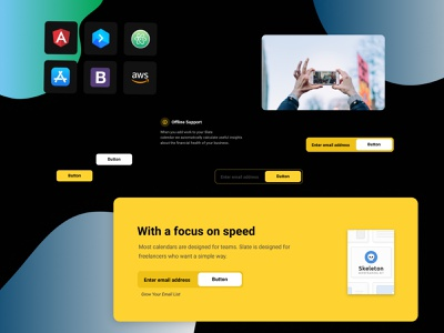 Figma landing page design kit #15 freebies ui components typography figma design system ui kit design resources landing page color palette