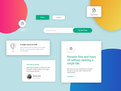Figma landing page design kit #16 freebies ui components typography figma design system ui kit design resources landing page color palette