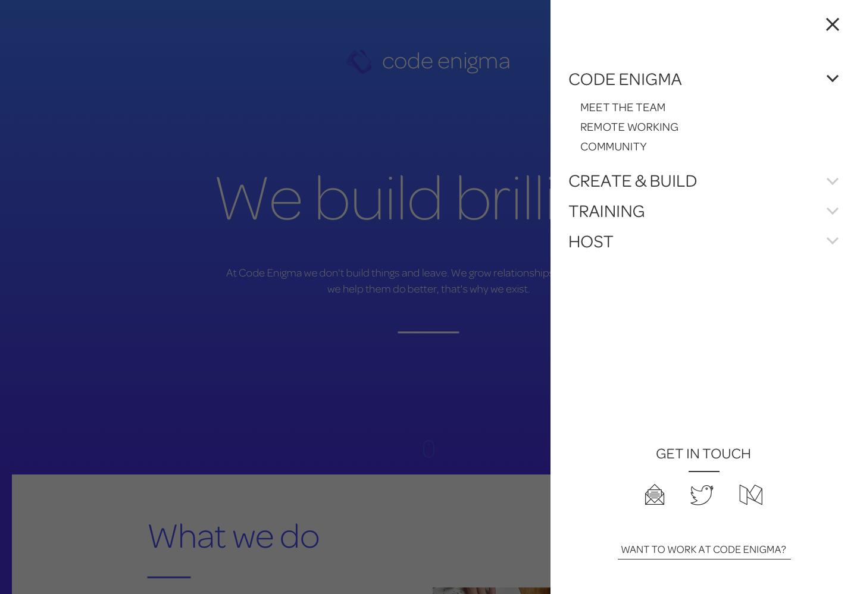 Homepage nav