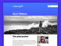 Code Enigma Profile page