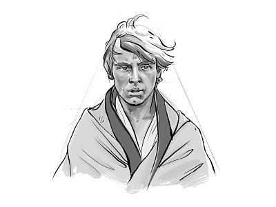 Luke Skywalker illustration