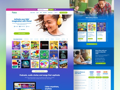 Pinna Website product website ux ui entertainment design