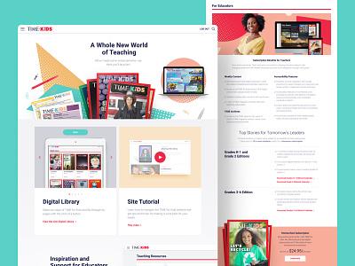 TIME for Kids Website product website ux ui design
