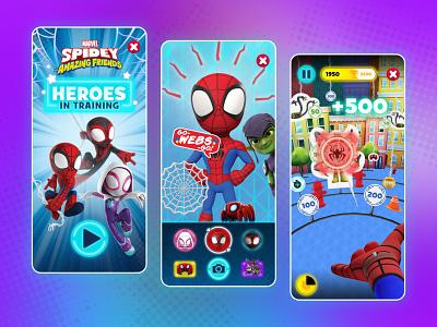 Disney's Marvel Spidey AR Experience product mobile ux kids ui entertainment design
