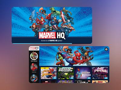 Marvel HQ App product mobile ux kids ui entertainment design