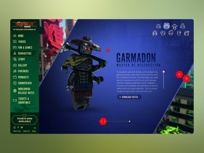 LEGO Ninjago Movie Website website ux ui entertainment design