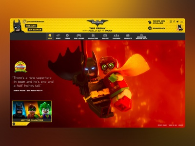 LEGO Batman Movie Website website kids ux ui entertainment design