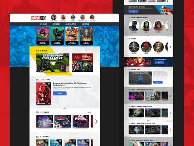 Marvel HQ Website branding website ux ui design