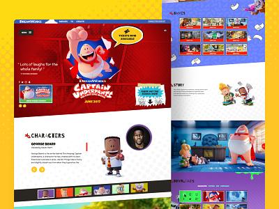 Captain Underpants Movie Website website entertainment ux ui design