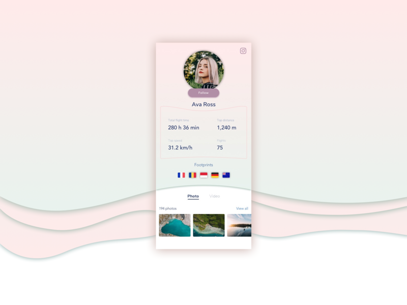 #daily UI 006 User Profile