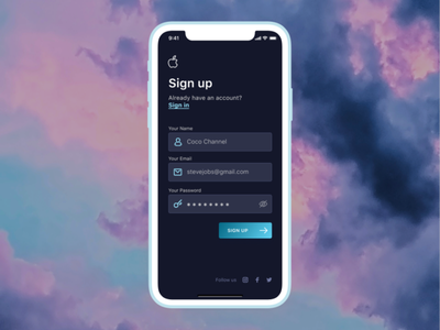 Day 03 - Sign Up screen register sign up uipractice dailyuichallenge dailyui uichallenge uxchallenge 10ddc