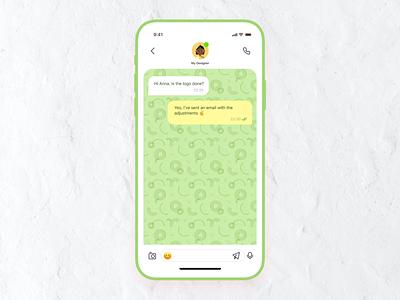 Day 05 Messaging screen ui dailyui dailyuichallenge message mobile chat app chat designchallenge uipractice 10daydesignchallenge 10ddc