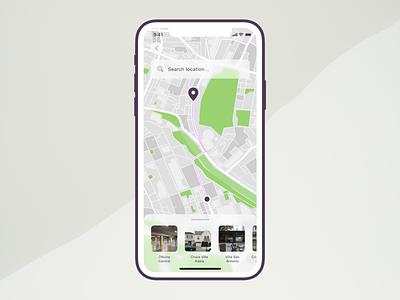 Day 07 Map Screen location mapping map ui interface dailyuichallenge designchallenge dailyui 10daydesignchallenge 10ddc