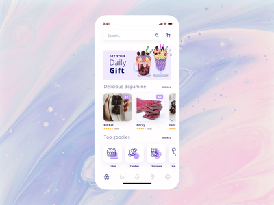 Day 09 E-commerce screen store chocolate candy mobile app ecommerce app ecommerce designcontest designchallenge uxchallenge uichallenge 10daydesignchallenge 10ddc