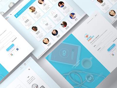Sharemedata medical interface mockup app