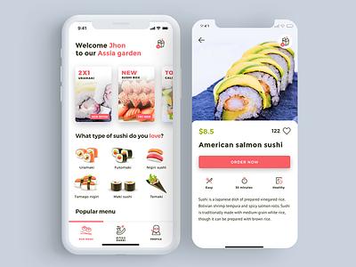 Sushi App UI mobile ios interaction ux mockup interface design ui app dailyui