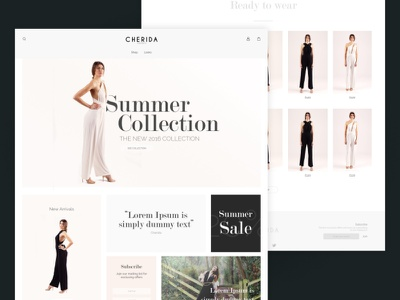 Fashion Website Frontpage Mock fashion website interface web ux ui website product clean fashion