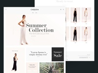 Fashion Website Frontpage Mock