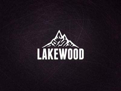 Lakewood Branding mountain logo mountain brand branding logo