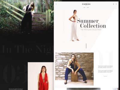 Fashion Website Lookbook Mock fashion website interface web ux ui website product clean lookbook fashion
