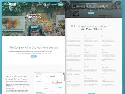 Cloudcanvas WordPress Platform UI white blue minimal clean site wp wordpress website ux ui