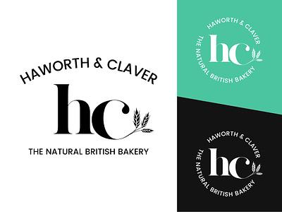 Haworth & Claver Bakery typography design logo branding modern classic food restaurant bakery logo bakery