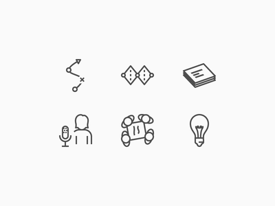 Process icons card sort double diamond design process process icons ideation workshop interview agile process design iconography icons